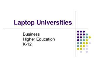 Laptop Universities
