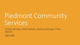 Piedmont Community Services