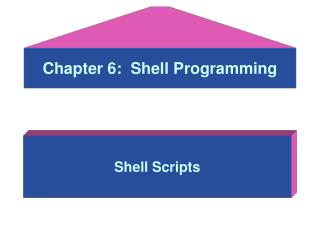 Chapter 6:  Shell Programming