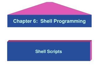 Chapter 6:  Shell Programming