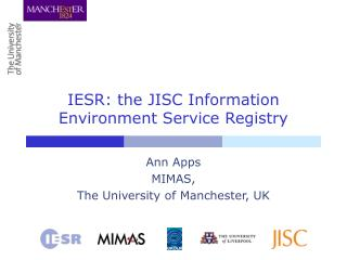 IESR: the JISC Information Environment Service Registry
