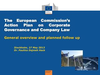 The  European Commission's  Action  Plan on Corporate Governance and Company Law