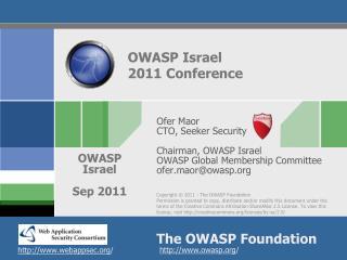 OWASP Israel  2011 Conference
