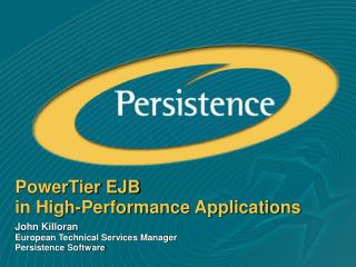 PowerTier EJB in High-Performance Applications