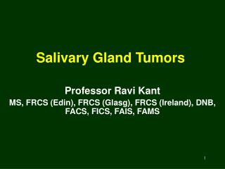 Salivary Gland Tumors