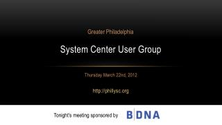 System Center User Group