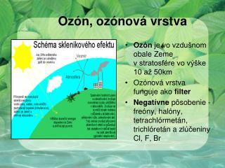 Ozón, ozónová vrstva