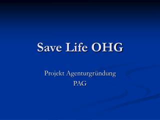 Save Life OHG