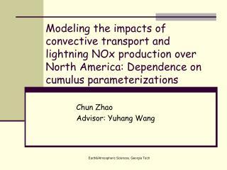 Chun Zhao  Advisor: Yuhang Wang