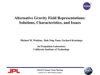 Alternative Gravity Field Representations: Solutions, Characteristics, and Issues