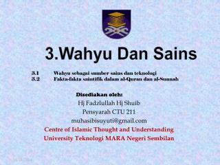 3.Wahyu Dan Sains