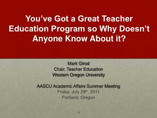You ve Got a Great Teacher Education Program so Why Doesn t Anyone Know About it