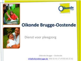 Oikonde  Brugge-Oostende