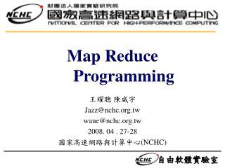 Map Reduce Programming
