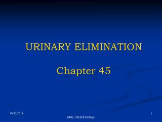 URINARY ELIMINATION Chapter 45