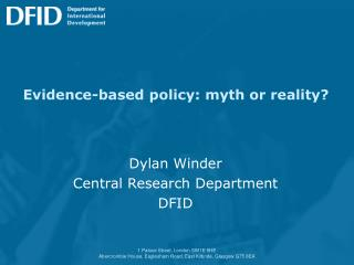 Evidence-based policy: myth or reality?