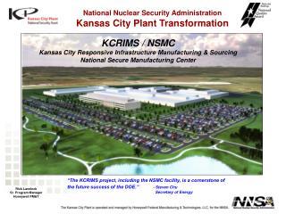 KCRIMS / NSMC Kansas City Responsive Infrastructure Manufacturing & Sourcing