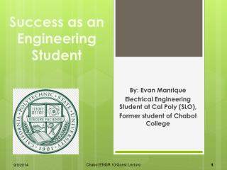 Success as an Engineering Student