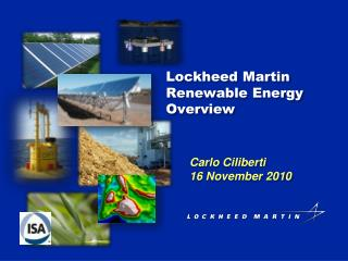 Lockheed  Martin  Renewable Energy Overview