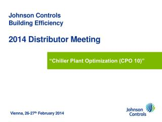 Johnson  Controls  Building  Efficiency 2014 Distributor Meeting