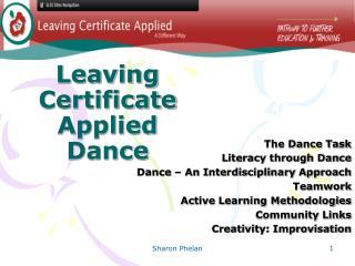 Leaving Certificate Applied Dance