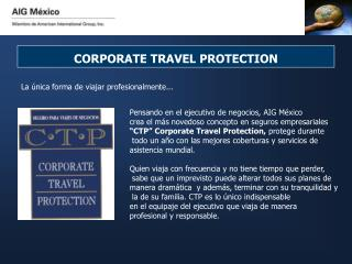 CORPORATE TRAVEL PROTECTION