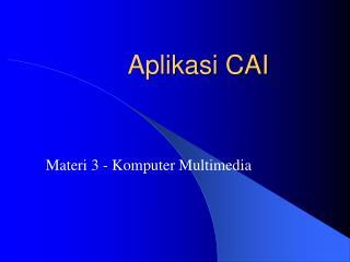 Aplikasi CAI