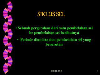 SIKLUS SEL