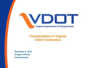 Transportation in Virginia VACO Conference