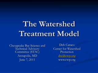 The Watershed Treatment Model
