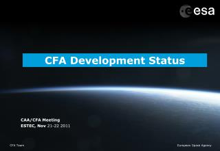 CFA Development Status