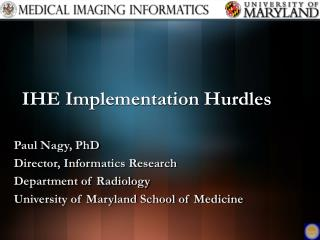 IHE Implementation Hurdles