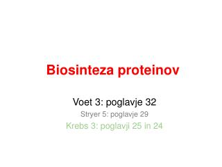 Biosinteza proteinov