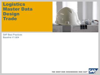 Logistics  Master Data Design Trade