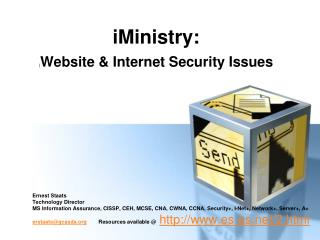iMinistry:  | Website & Internet Security Issues
