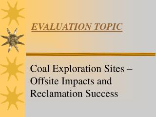 EVALUATION TOPIC