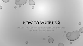 How to write DBQ