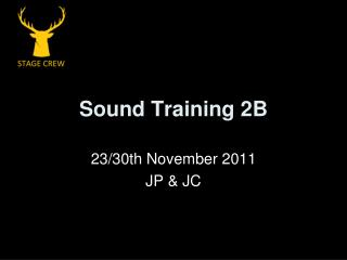 Sound Training 2B