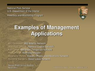 Examples of Management Applications
