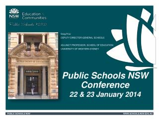 Public Schools NSW Conference  22 & 23 January 2014