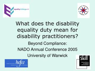 What does the disability equality duty mean for disability practitioners?