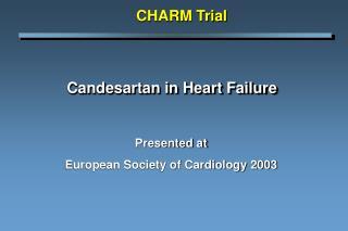 Candesartan in Heart Failure