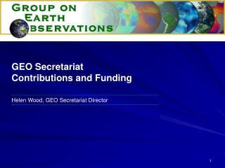 Helen Wood, GEO Secretariat Director