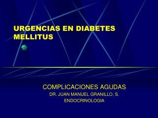URGENCIAS EN DIABETES MELLITUS