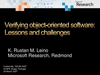 Verifying object-oriented software: Lessons and challenges