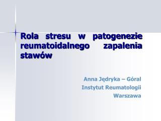 Rola stresu w patogenezie reumatoidalnego zapalenia stawów