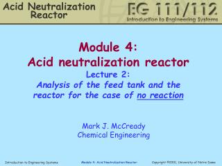 Acid Neutralization Reactor