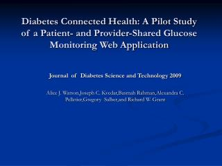 Journal  of  Diabetes Science and Technology 2009