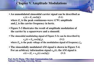 Chapter V. Amplitude Modulations