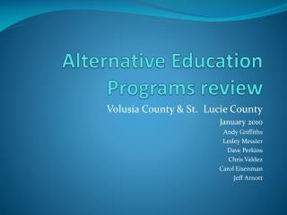 Alternative Education Programs review